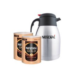 NESCAFE - 2 Adet Nescafe Gold Eko Paket 900gr Termos Hediyeli