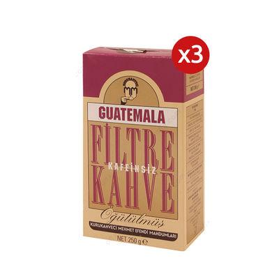 3 Adet Mehmet Efendi Guatemala Kafeinsiz Filtre Kahve 250gr