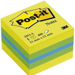 3M - 3M Post-it Mini Küp Sarı Tonları 400yp 52x52mm