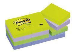 3M - 3M Post-it Mint Serisi Not Kağıdı 38x51mm 12li
