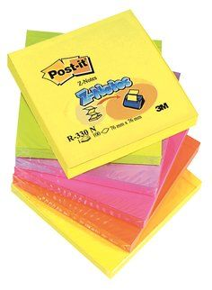 3M Post-it Neon Renkler 76x76mm 100yp 6lı