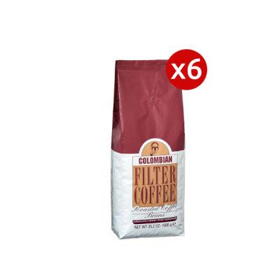 6 Adet Mehmet Efendi Colombian Filter Coffee 1000gr Kavrulmuş Çekirdek