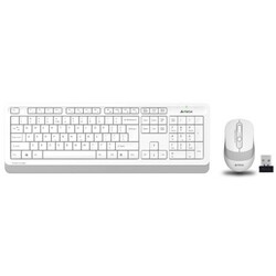 A4 Tech - A4 Tech FG1010 USB Kablosuz Multimedia Klavye + Mouse Set Beyaz