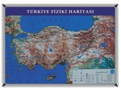 AKYAZI - Akyazı Dünya Fiziki Haritası 70x100