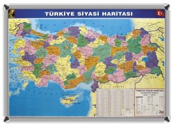 AKYAZI - Akyazı Dünya Siyasi Haritası 70x100