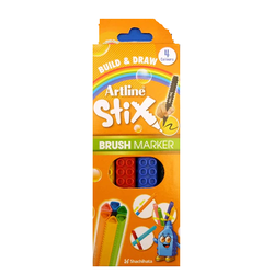 Artline - Artline Stix Brush Marker Set 4lü