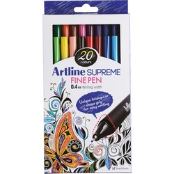 Artline - Artline Supreme Fine Pen Assorted Box 20 Renk