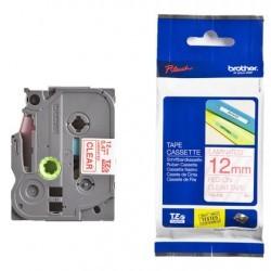 Brother - Brother P-Touch TZ-tape 12mm Şeffaf-Kırmızı Etiket 12TZE132