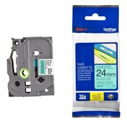 Brother - Brother P-Touch TZ-tape 24mm Yeşil-Siyah 24TZE751