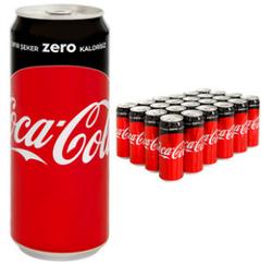 Coca Cola - Coca Cola Zero 330 ml 24′lü