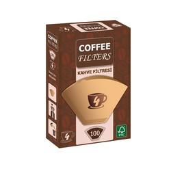 Coffee - Coffee Kahve Makinesi Filtresi 1 x 4 Kahverengi 100 Adet