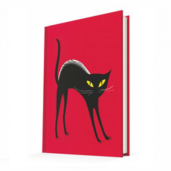 Deffter - Deffter Summer Cats Black Cat Çizgili Defter