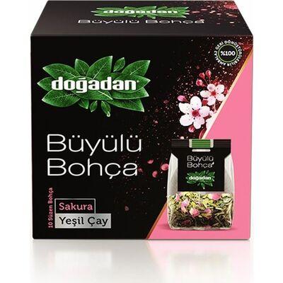 Doğadan Büyülü Bohça Yeşil Çay Sakura 10lu