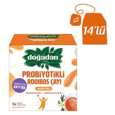 Doğadan Probiyotikli Rooibos Çayı Vanilyalı 14lü