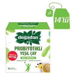 Doğadan - Doğadan Probiyotikli Yeşil Çay Açai Ananaslı 14lü