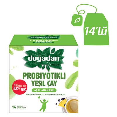 Doğadan Probiyotikli Yeşil Çay Açai Ananaslı 14lü
