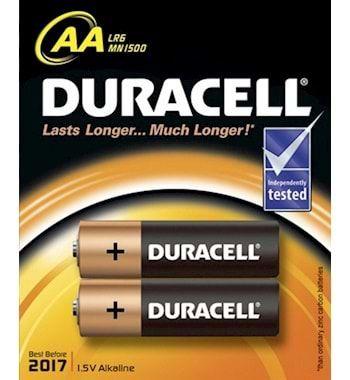 Duracell Alkalin AA Pil 2li