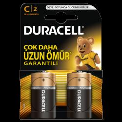Duracell - Duracell Alkalin C Orta Boy Pil 2li