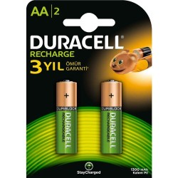 Duracell - Duracell Pil AA Şarjlı 2li 1300mah