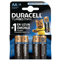 Duracell - Duracell Pil Turbo Max AA 4lü