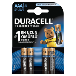Duracell - Duracell Pil Turbo Max AAA 4lü