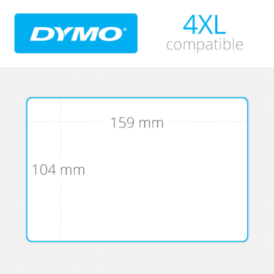 Dymo 4XL Ekstra Geniş Sevkiyat Etiketi 104x159mm