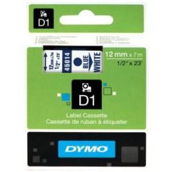 Dymo - Dymo D1 12mmx7m Beyaz/Mavi 45014