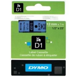 Dymo - Dymo D1 12mmx7m Mavi/Siyah 45016