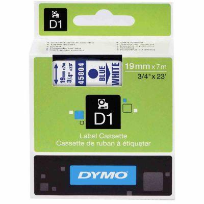 Dymo D1 19mmx7m Beyaz/Mavi 45804