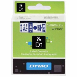 Dymo - Dymo D1 19mmx7m Beyaz/Mavi 45804
