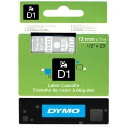 DYMO - Dymo D1 Yedek Şerit 12mmx7m Şeffaf/Beyaz 45020