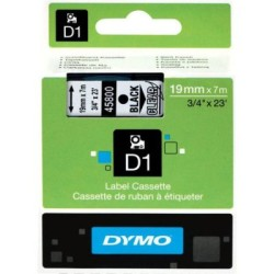 Dymo - Dymo D1 Yedek Şerit 19mmx7m Şeffaf/Siyah 45800