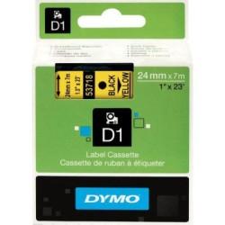 Dymo - Dymo D1 Yedek Şerit 24mmx7m Sarı/Siyah 53718