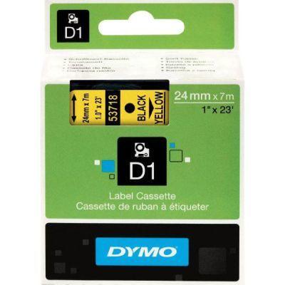 Dymo D1 Yedek Şerit 24mmx7m Sarı/Siyah 53718