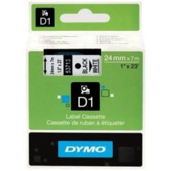 Dymo - Dymo D1 Yedek Şerit 24mmx7m Beyaz/Siyah 53713