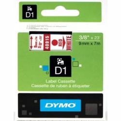Dymo - Dymo D1 Yedek Şerit 9mmx7m Beyaz/Kırmızı 40915