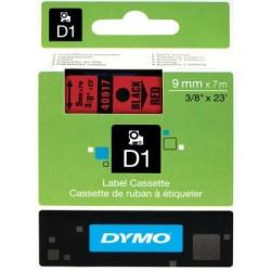 Dymo - Dymo D1 Yedek Şerit 9mmx7m Kırmızı/Siyah 40917