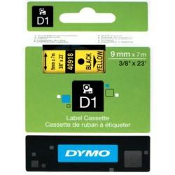 Dymo - Dymo D1 Yedek Şerit 9mmx7m Sarı/Siyah 40918