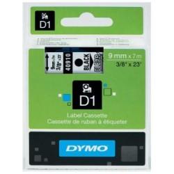 Dymo - Dymo D1 Yedek Şerit 9mmx7m Şeffaf/Siyah 40910