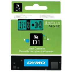 Dymo - Dymo D1 Yedek Şerit 9mmx7m Yeşil/Siyah 40919