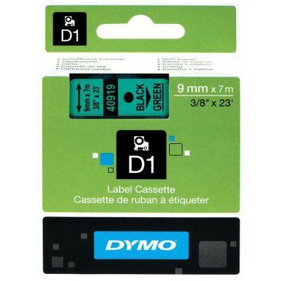 Dymo D1 Yedek Şerit 9mmx7m Yeşil/Siyah 40919