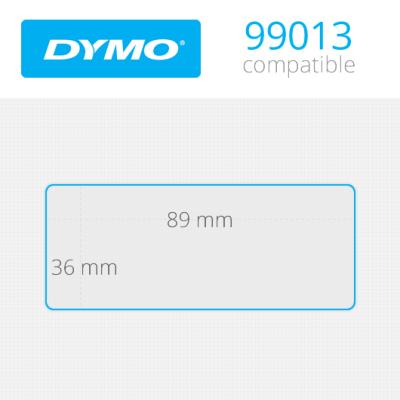 Dymo Geniş Adres 260 Etiket Şeffaf 89x36mm 99013