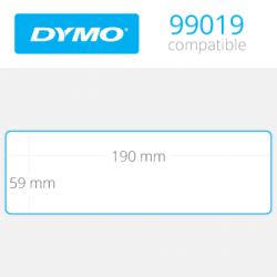 Dymo Geniş Klasör Sırt Etiketi 110 Etiket 190x59mm 99019 - Thumbnail