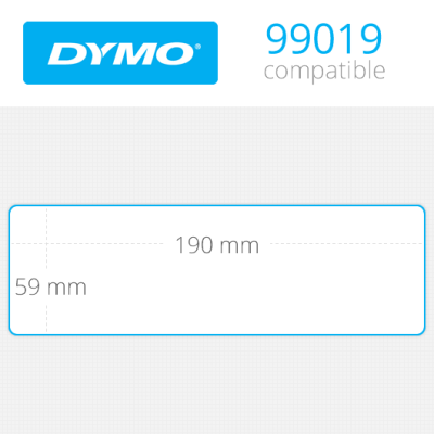 Dymo Geniş Klasör Sırt Etiketi 110 Etiket 190x59mm 99019
