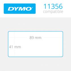 Dymo İsim Kartı Etiketi 300 Etiket 89x41mm 11356 - Thumbnail