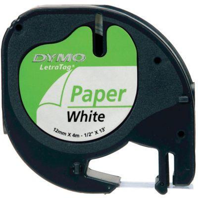 Dymo LetraTag Kağıt Şerit Beyaz 12mmx4m