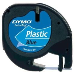 DYMO - Dymo LetraTag Plastik Şerit Mavi 12mmx4m