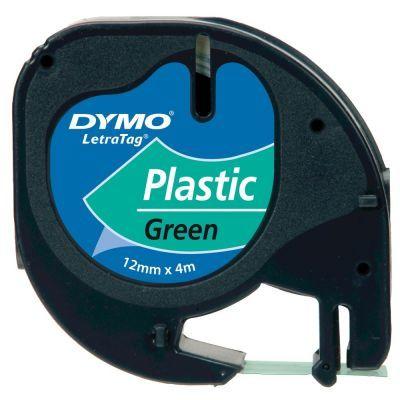 Dymo LetraTag Plastik Şerit Yeşil 12mmx4m