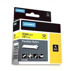 Dymo - Dymo RhinoPro Esnek Naylon Serit 12mmx3.5m Sarı/Siyah 18490