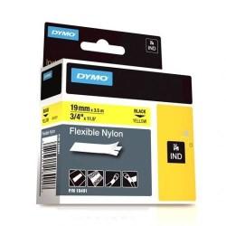 Dymo - Dymo RhinoPro Esnek Naylon Serit 19mmx3.5m Sarı/Siyah 18491